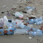 Rubbish left behind on beautiful Ceaserea beach